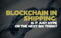 Block chain in shipping